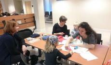 Kézműves foglalkozás Andival (Lyon) és Rékával (Strasbourg)