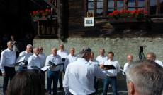 Alpesi férfikórus koncertje Grimentz-ben