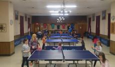 Napi kétszer ping pong edzésen vettek részt a táborozók
