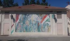 Falfestmény az iskola udvarán