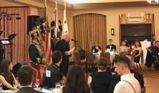 Németh Maurus a Katolikus Misszió vezetője köszönti a vendégeket