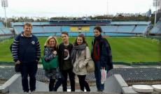 Varga Péter és csapata velem - Estadio Centenario-ban