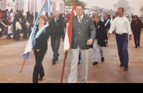 A Villa Angela-i Magyar Egyesület elnöke Bischof József jobbra mellette Szalma Gizella