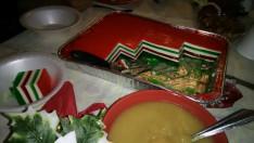 Zselés édesség nemzeti lobogónk színeiben a duquesnei gyülekezet karácsonyi partyján