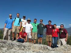 Felértünk a hegy tetejére