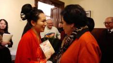 Xuyan Liu szoprán énekes a vendégek közt