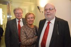 Hollós József, Seidler Andrea, az Ausztriai Magyar Kutatóintézet vezetője, Karl Vocelka, a Bécsi Egyetem nyugalmazott professzora