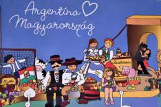 Magyarország és Argentína plakát