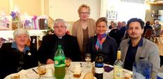 Miskei László plébános és Margit néni édesanyja,Lilien Vukanics, az egyháztanács elnöke