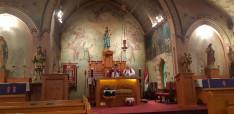Lelkigyakorlatos szentmise szentbeszéddel egybekötve. Kiss Barnabás atya és Miskei atya