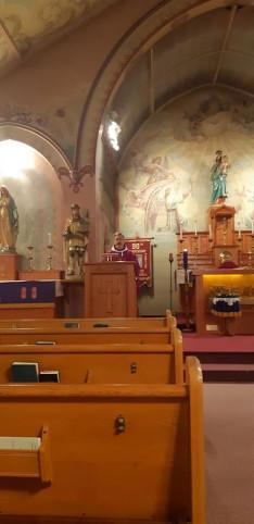 Kiss Barnabás atya szentbeszédet mondott a lelkigyarkorlaton és másnap a reggeli misén is