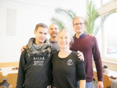 KCSP-s kollégákkal: Tóth-Pál Zoltánnal, Perger Évivel és Deli Csanáddal