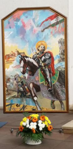 Az augsburgi Magyar Katolikus Misszió Szent László festménye