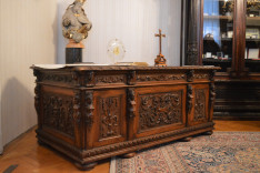 Mindszenty József bíboros íróasztala a Pázmáneumban