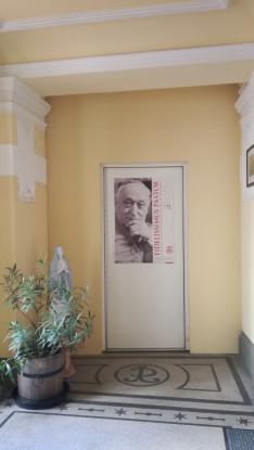 A leghűségesebb főpásztor, Mindszenty József bíboros képe a Pázmáneum földszintjén