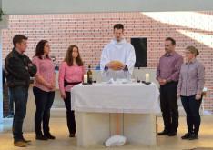 Jézus megtöri a kenyeret az utolsó vacsorán