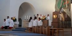 Búcsúi szentmise az augsburgi St. Max templomban