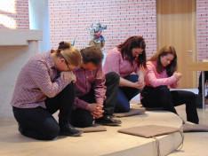 Alvó tanítványok a Getszemáni kertben