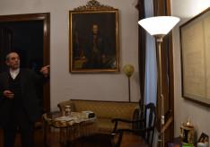 Varga János atya, a Pázmáneum rektora megmutatta csoportunknak a lakosztályt, ahol Mindszenty atya élt 1971-75 között