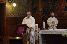 Szentmise a Pázmáneum kápolnájában. Varga János rektor atya