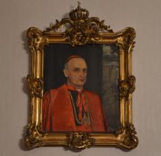 Feszty Masa portréja Mindszenty József bíborosról a Pázmáneumban