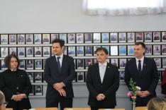 Bocskorás Enikő, Ódor Bálint, Latorcai Csaba és Steven Bonk az ünnepi ebéden