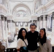 Krisztivel meglátogattuk egyik diákomat munkahelyén, a Parlamentben