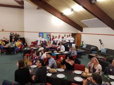 A wellingtoni néptáncklub bevonulása