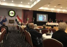 A Délvidéki Magyar Szövetség nagytermében