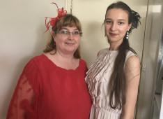 S. Elizabetta, az Otthon dolgozója és Németh Virág, KCsP ösztöndíjas