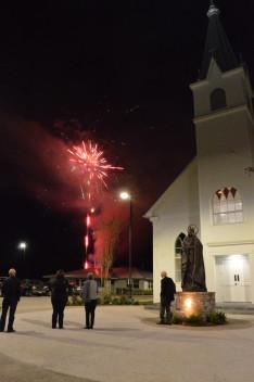 Az estét tűzijátékkal zártuk