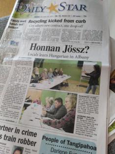 híresek lettünk a magyar órákkal - helyi újságcikk a programról