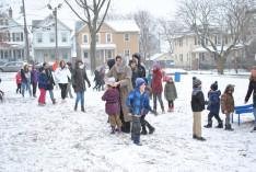 Gyönyörű hóesésben volt részünk