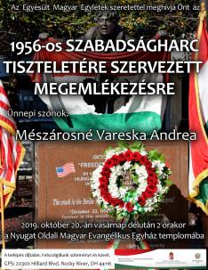 1956 október 23-i megemlékezés plakátja