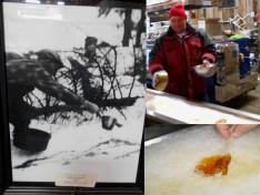 Megőrzött mozdulat - a jégre öntött juharszirup