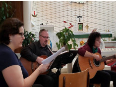 A Lubilate énekkar képviselői