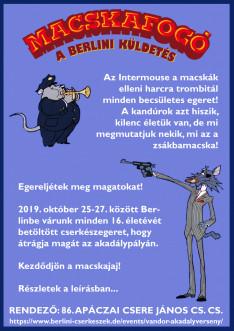 Macskafogó akadályverseny plakátja