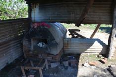 A ház építője által rakott régi kemence