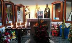 Márton Áron képe az Olasz Kápolnában