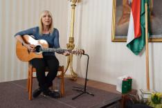 Géczi Erika 2017. május 27-én Bécsben a Pázmáneumban