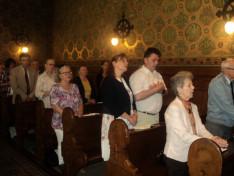 Hívek a Pázmáneum kápolnájában 2017. május 27-én