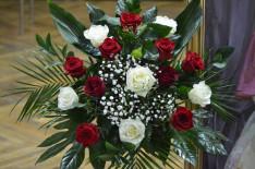 Virág az október 24-i gyulafehérvári könyvbemutató díszletéből