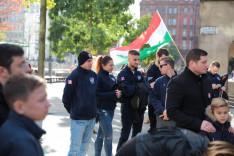 A manchesteri lengyel közösség tagjaiA manchesteri lengyel közösség tagjai is tiszteletüket tették a megemlékezésen