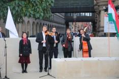 Csige Ildikó és a Rőmer Ádám vezette Folktone Banda közös muzsikálása is színesítette a programot