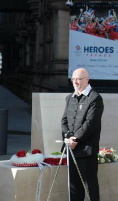 Oláh Gábor, a megemlékezés főszervezője