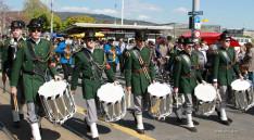 Egyike a több ifjúsági zenekarnak, akik kísérték a menetet