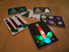 Kézzel készített adventi képeslapok