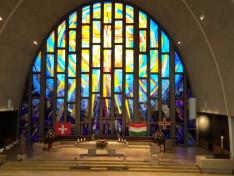 Magyar és svájci színek a Sankt Gallus templomban