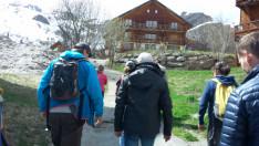 A csapat másik fele addig egy hegyi túrára ment