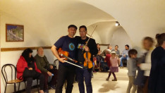 A vidám muzsikusaink: a Turai banda két tagja